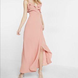 NWT light pink Express chiffon maxi dress - Sz 10